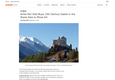 artist not vital buys 12th century swiss castle