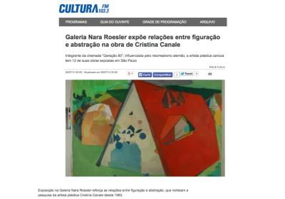 galeria nara roesler expõe relações entre figuração e abstração na obra de cristina canale