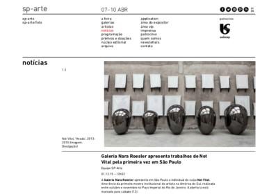 galeria nara roesler apresenta trabalhos de not vital pela primeira vez em são paulo