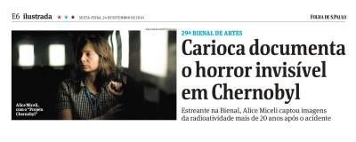carioca documenta o horror invisível em chernobyl