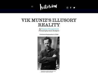 vik muniz's illusory reality