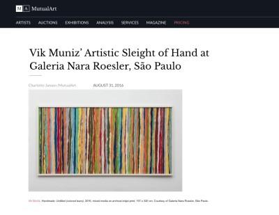 vik muniz' artistic sleight of hand at galeria nara roesler, são paulo