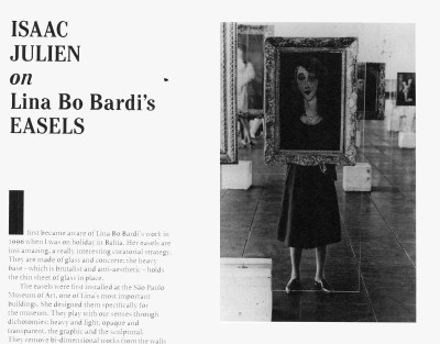 isaac julien on lina bo bardi's easels