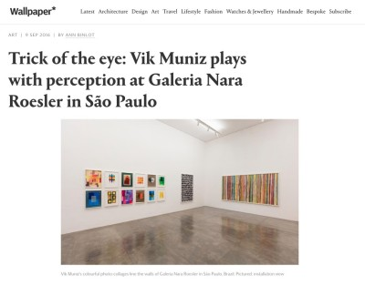trick of the eye: vik muniz plays with perception at galeria nara roesler in são paulo