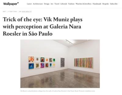 trick of the eye: vik muniz plays with perception at galeria nara roesler in são paulo