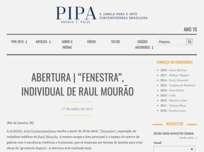 abertura | 'fenestra', individual de raul mourão