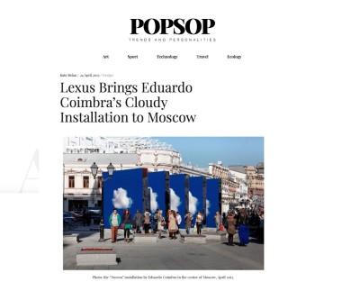 lexus brings eduardo coimbra's cloudy installation to moscow