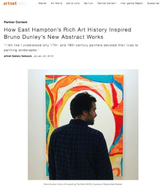 how east hampton's rich art history inspired bruno dunley's new abstract works