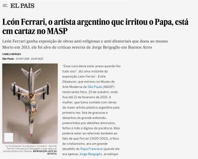 león ferrari, o artista argentino que irritou o papa, está em cartaz no masp