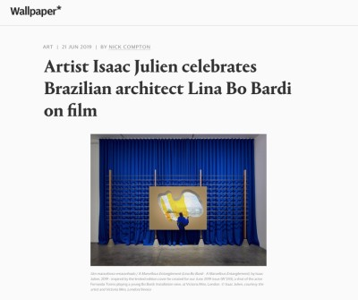 artist isaac julien celebrates brazilian architect lina bo bardi on film