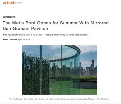 the met's roof opens for summer with mirrored dan graham pavilion