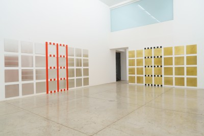 daniel buren | new grids: bas-reliefs, situated works and in situ, 2021