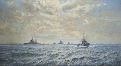 Arthur James Wetherall Burgess , RI, ROI, RBC, RSMA, The might of the Admiralty