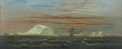 Arthur Wellington Fowles , The 'Indiana', US steamship, passing icebergs, 4am, 6th July 1875