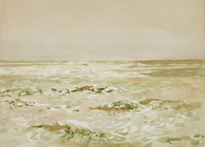 Norman Wilkinson , CBE, SMA, PRWS, RI, Dappled light on the sea, a pair