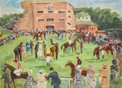 Paul Maze , In the paddock - Goodwood Racecourse