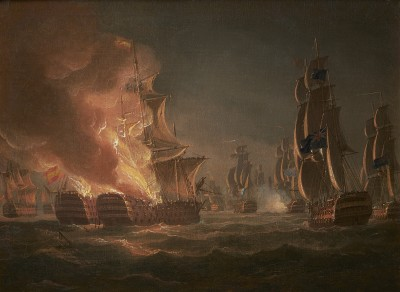Thomas Whitcombe , The Second Battle of Algeciras Bay, July 12th 1801