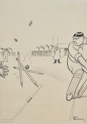 Henry Mayo Bateman , Cricket - Bowled 'im