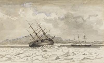 Edward Augustus Inglefield , HMS Breadalbane and HMS Phoenix caught in the ice off Beechey Island, 1853