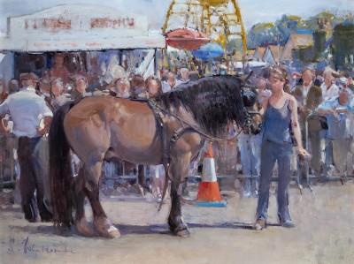 Susie Whitcombe , Hot dog stall, Wickham Horse Fair