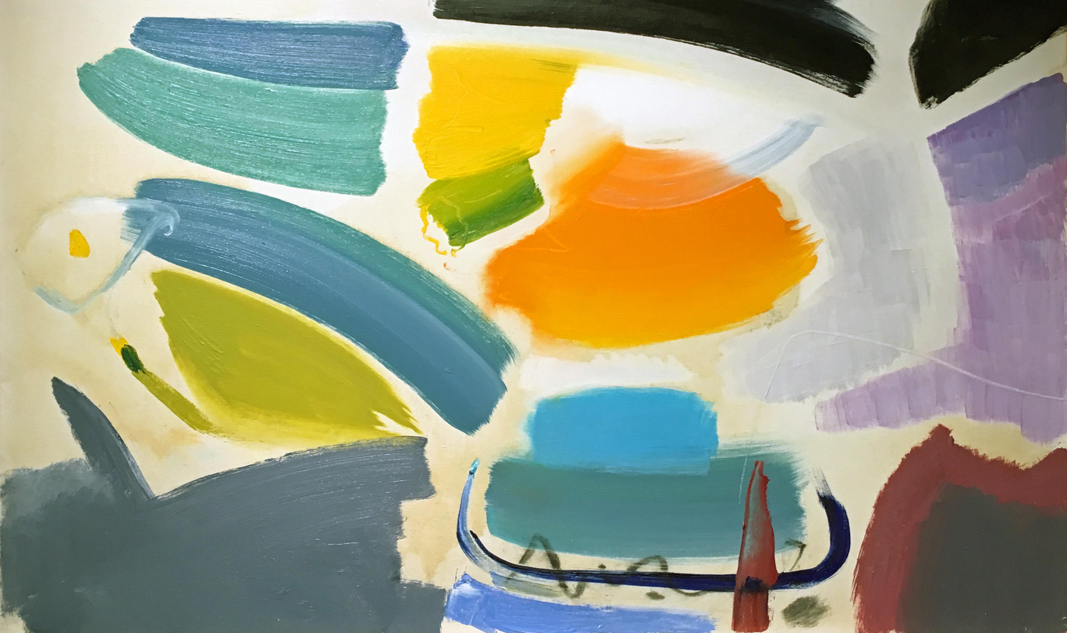 Ivon Hitchens 1893-1979 Calla Lilies, 1967 oil on canvas 36 x 22 in / 91.5 x 56 cm