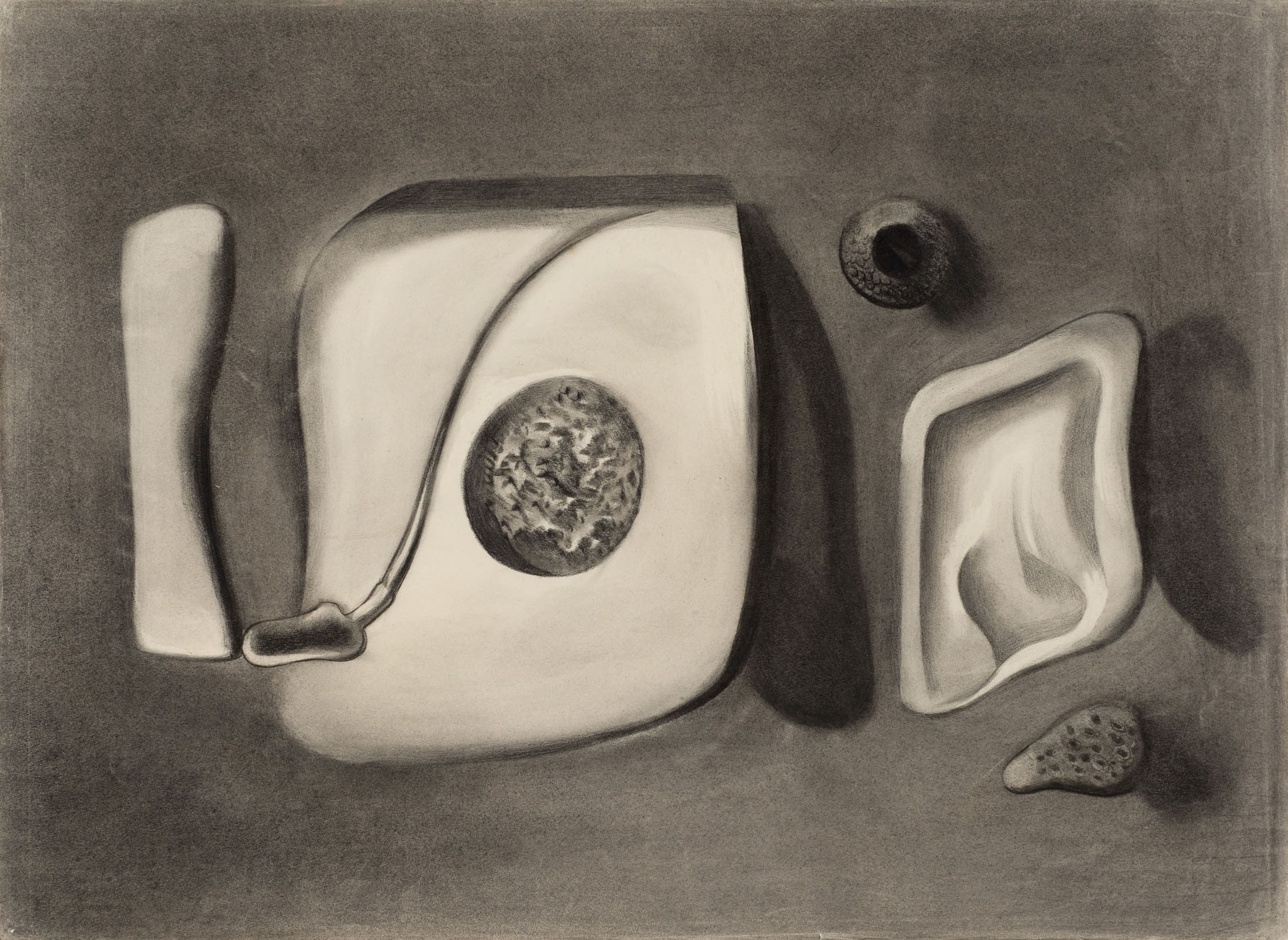Merlyn Evans 1910 - 1973 Untitled, c.1934 charcoal on paper 30 x 22 in / 76.2 x 55.9 cm