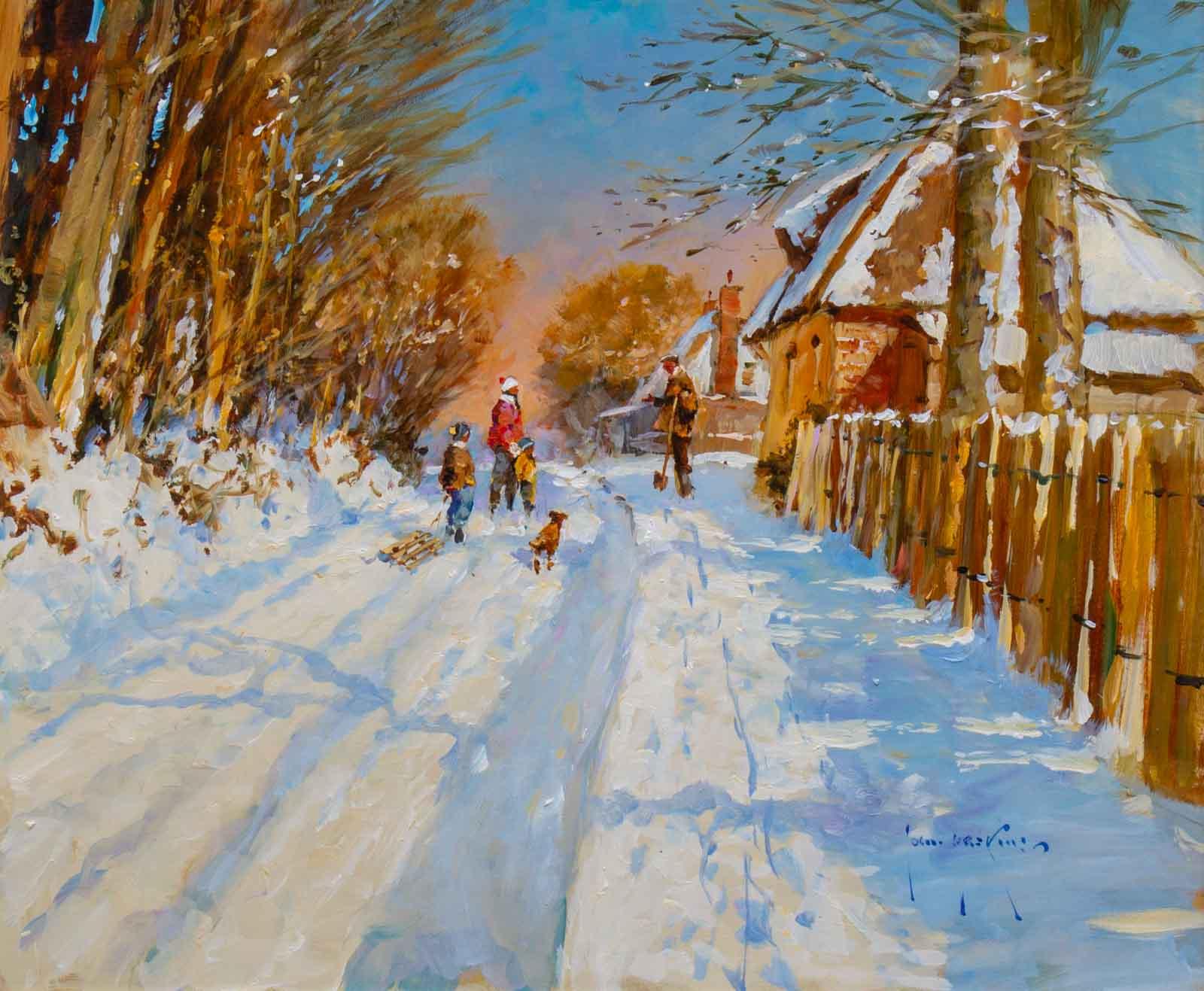 Snowfall, Church Lane