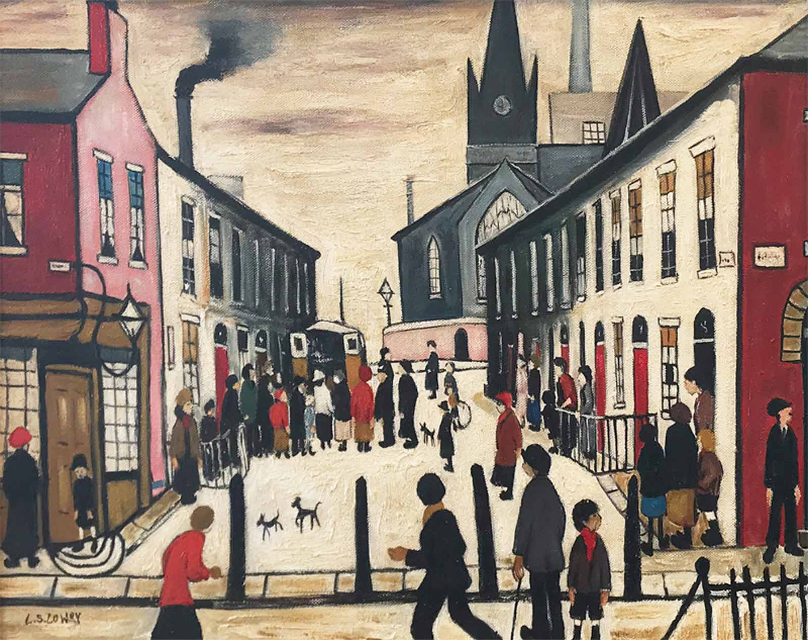 The Fever Van after L.S.Lowry