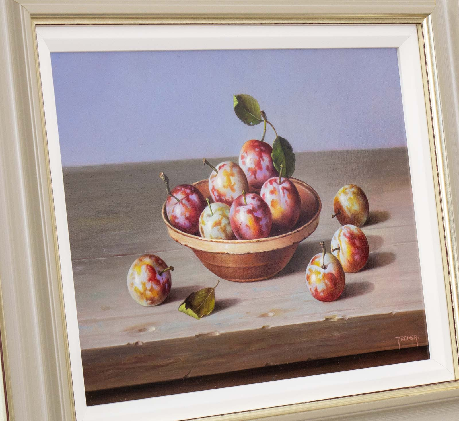 Plums in Terracotta Bowl