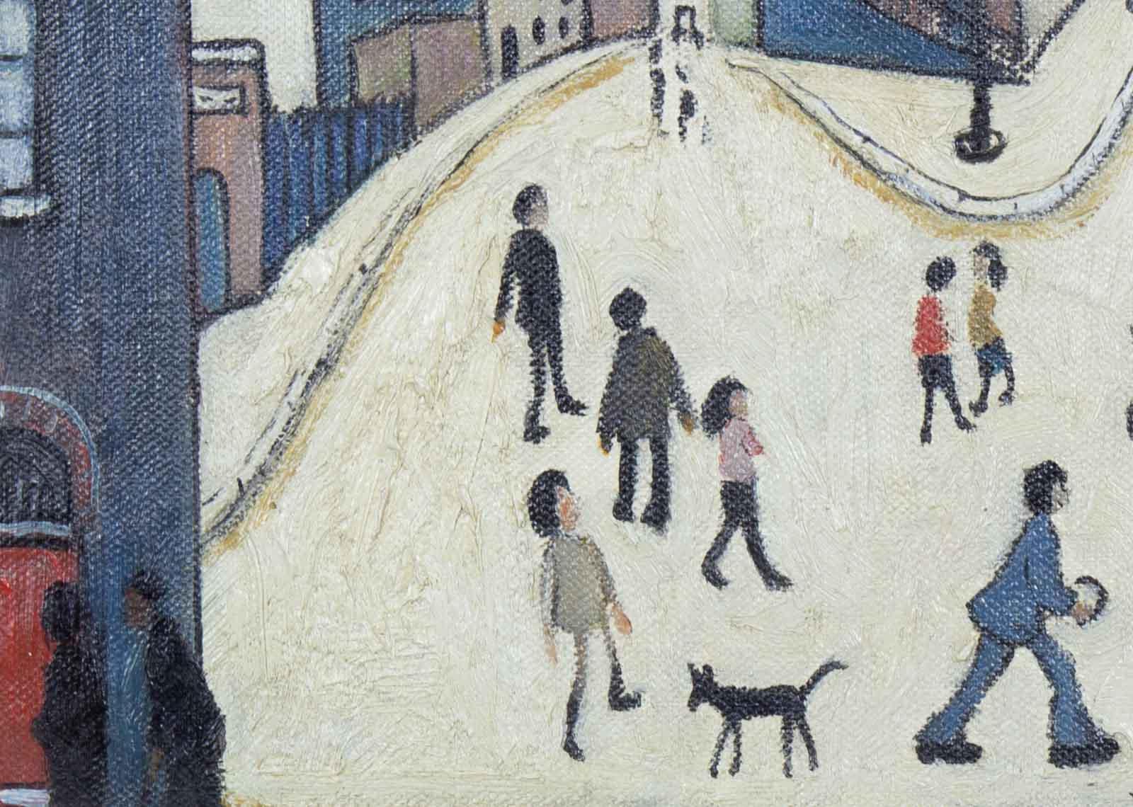 Street Scene after L.S.Lowry
