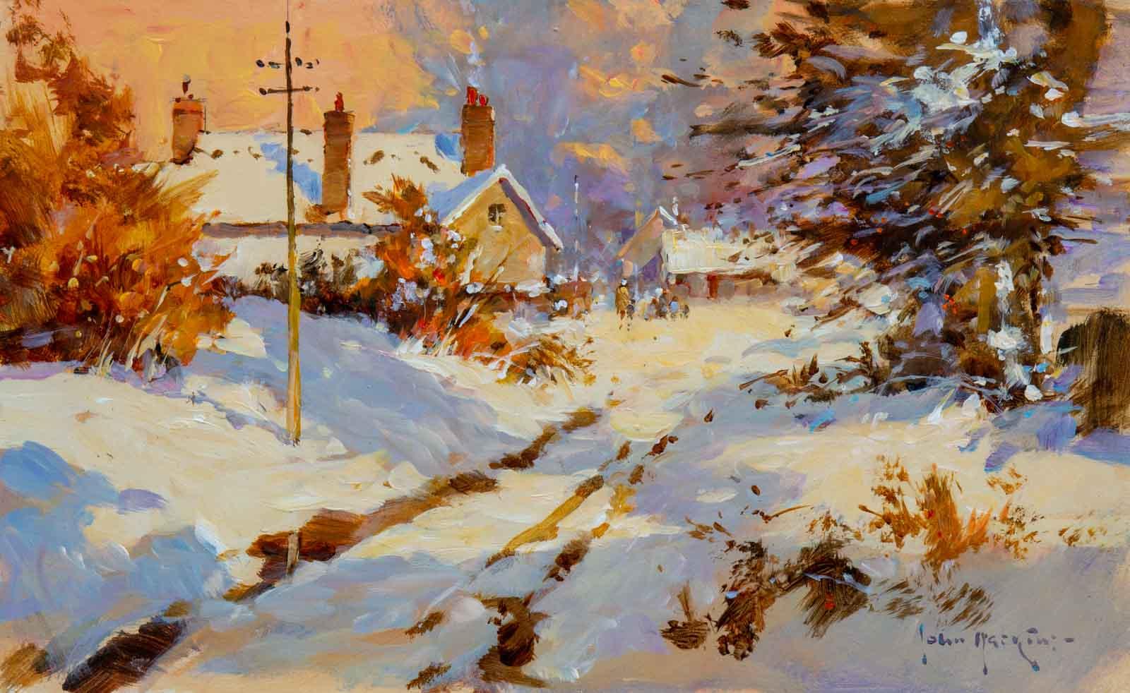 Snow On The Lane