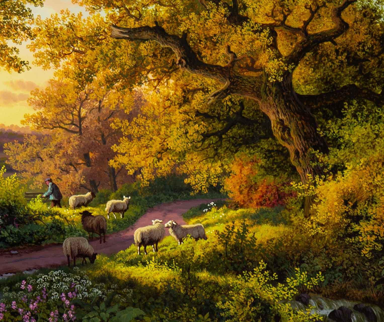 Sun Setting on the Old Oak Tree