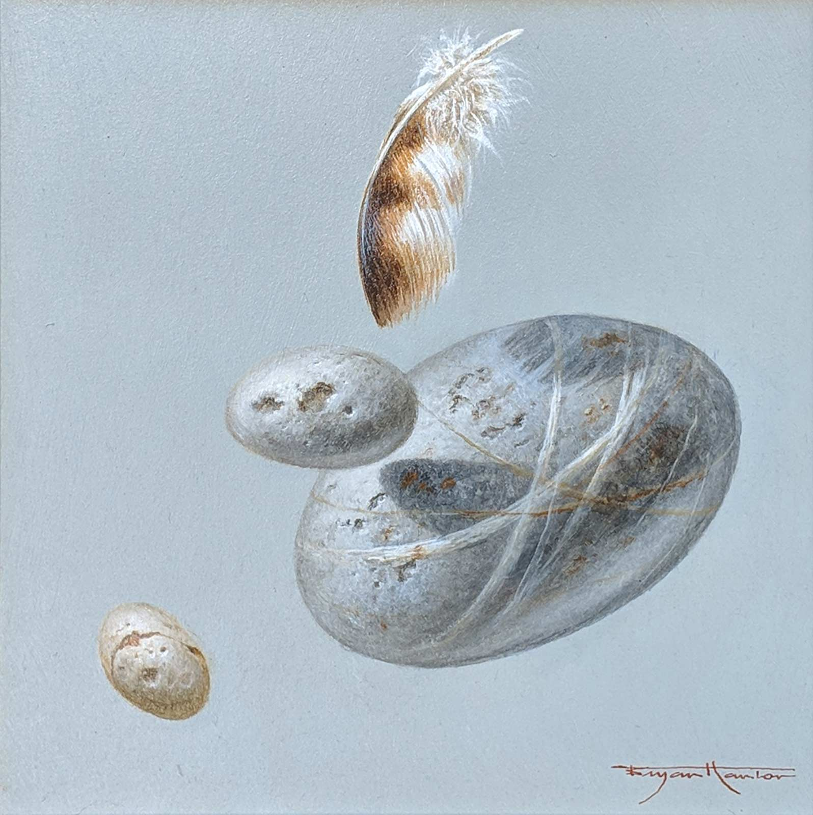 Three Pebbles And A Feather II