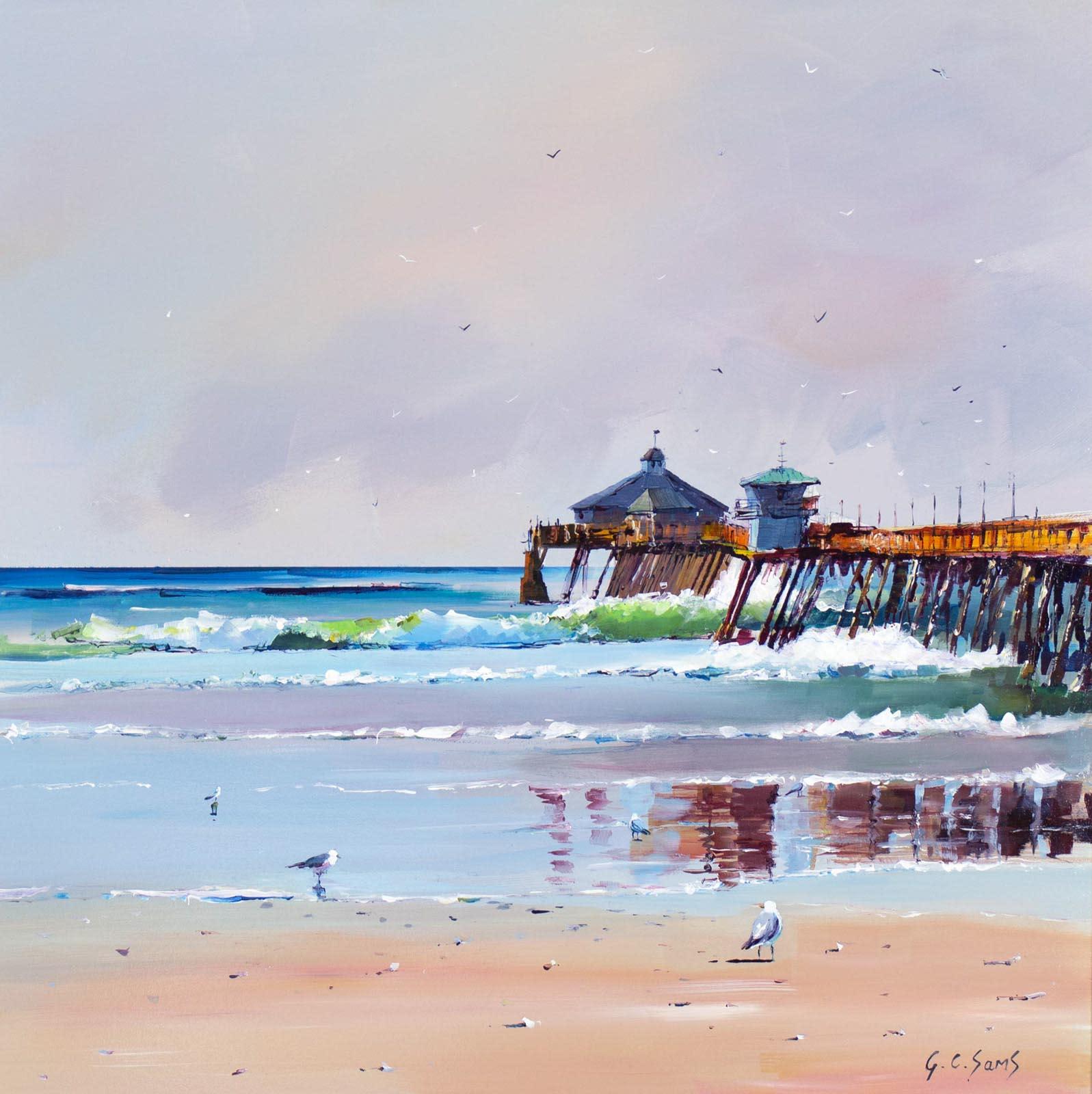 Coastal Vista To The Pier