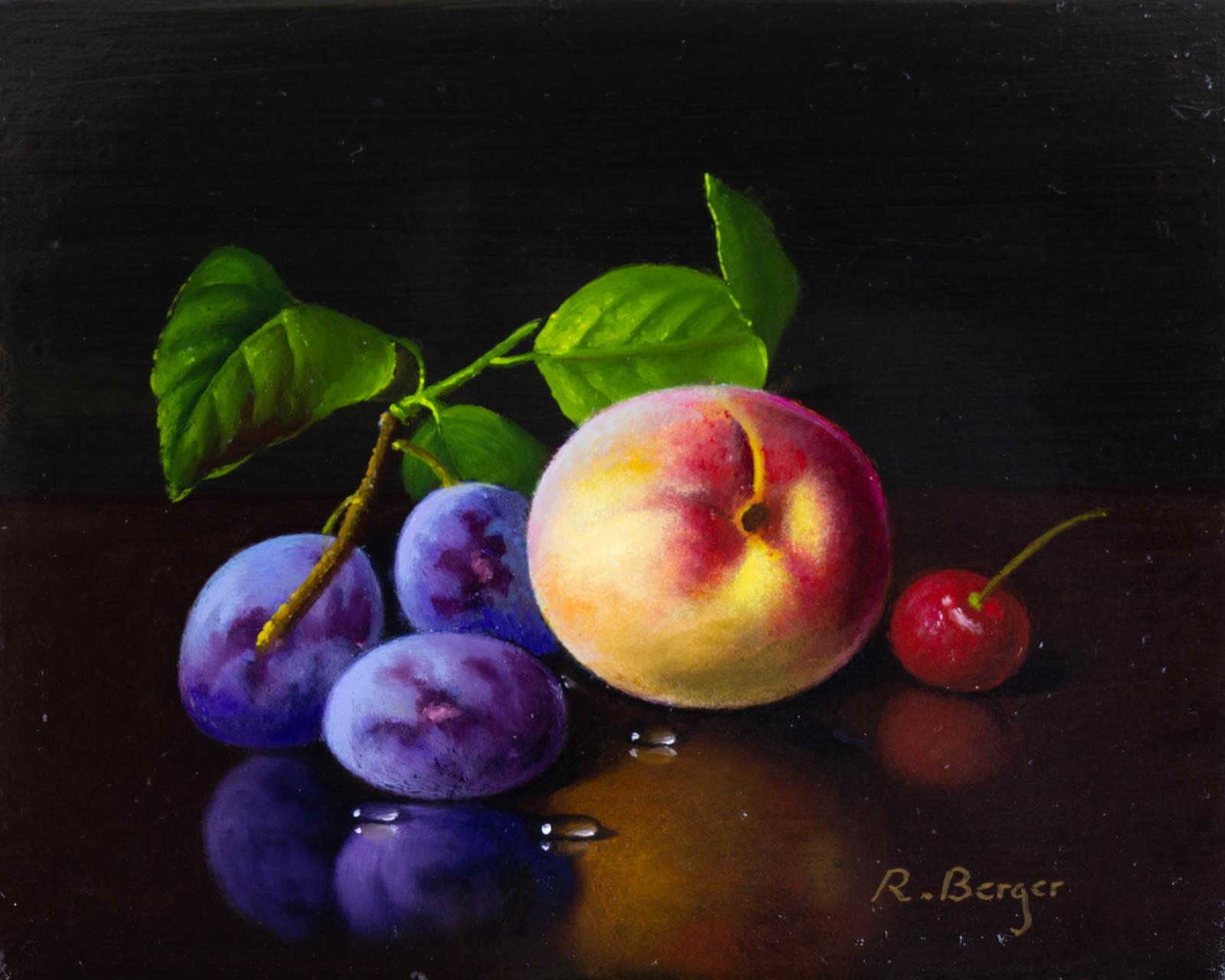 Plum, Peach & Cherry