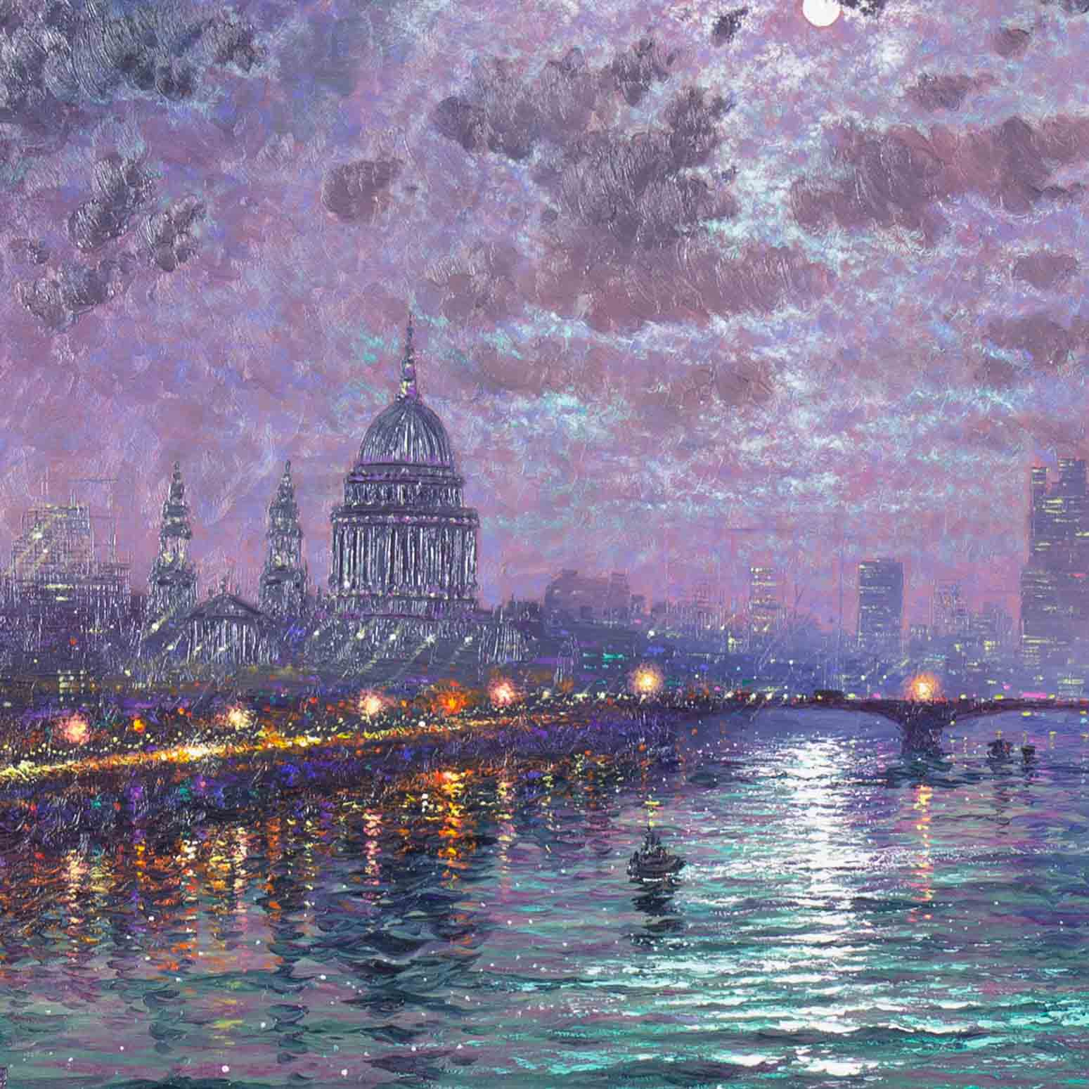 Moonlight Sparkle Across the Thames