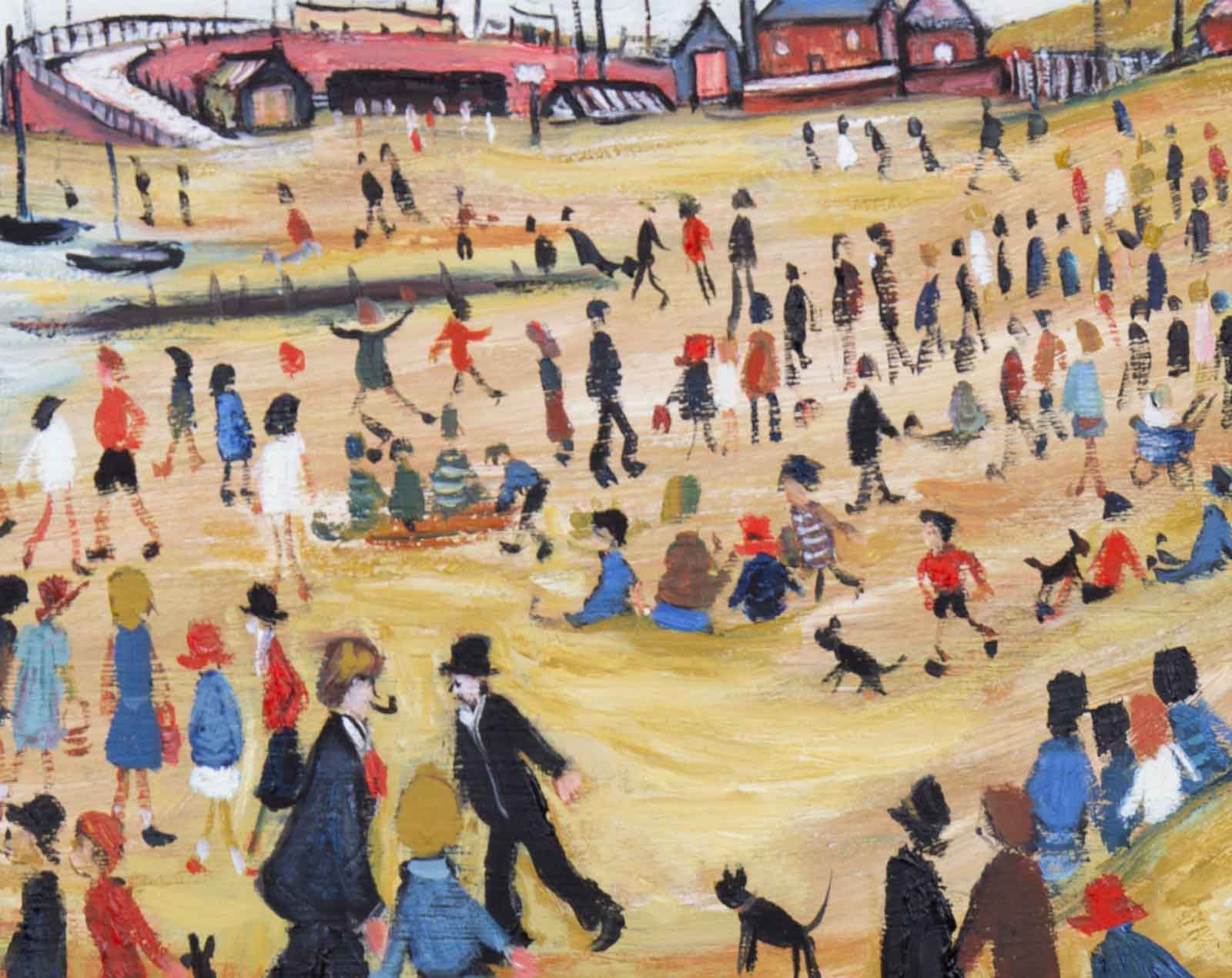 Beach Scene II after L.S.Lowry