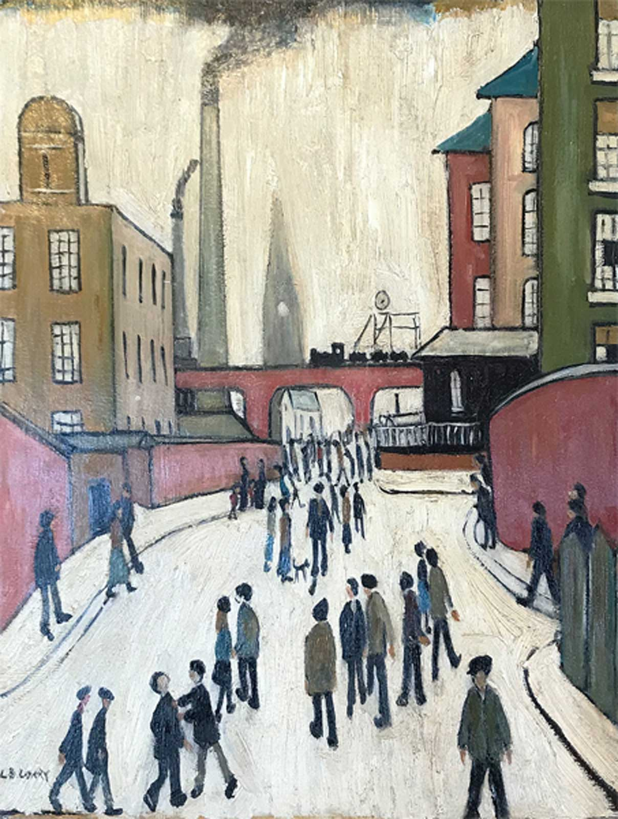 Old Street Scene after L.S.Lowry