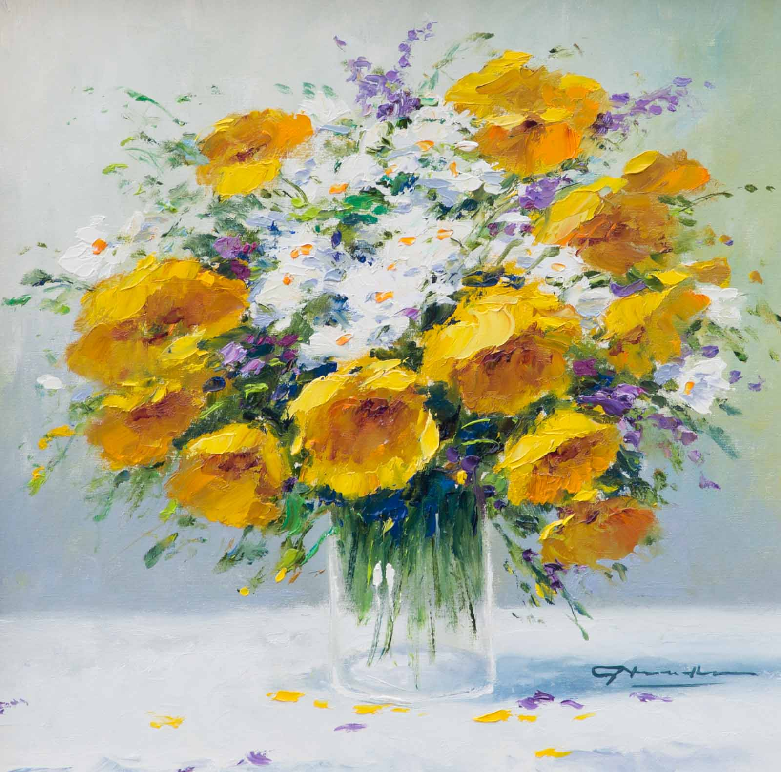 Bouquet of Yellows and Whites