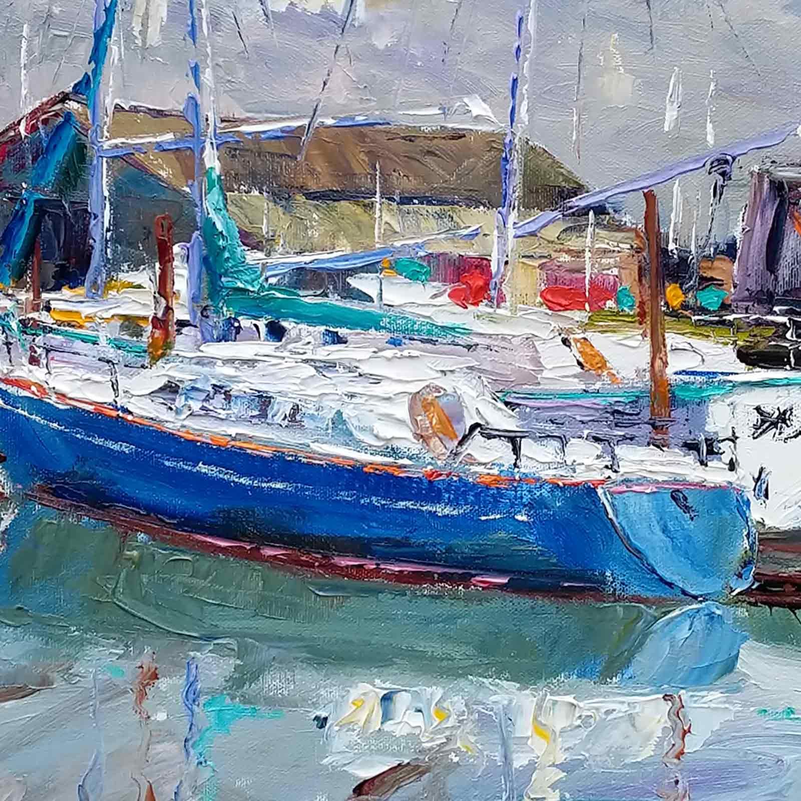 Moored Boats, Suffolk