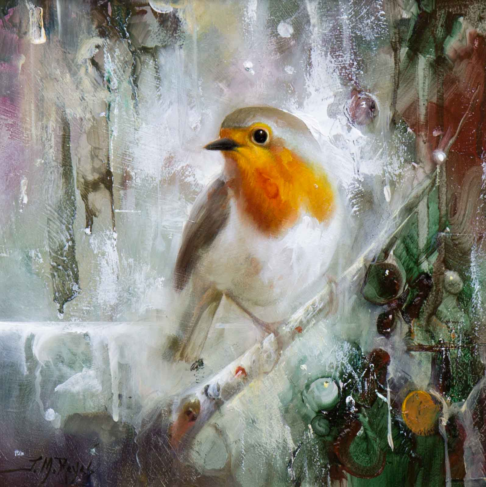 Robin Perching