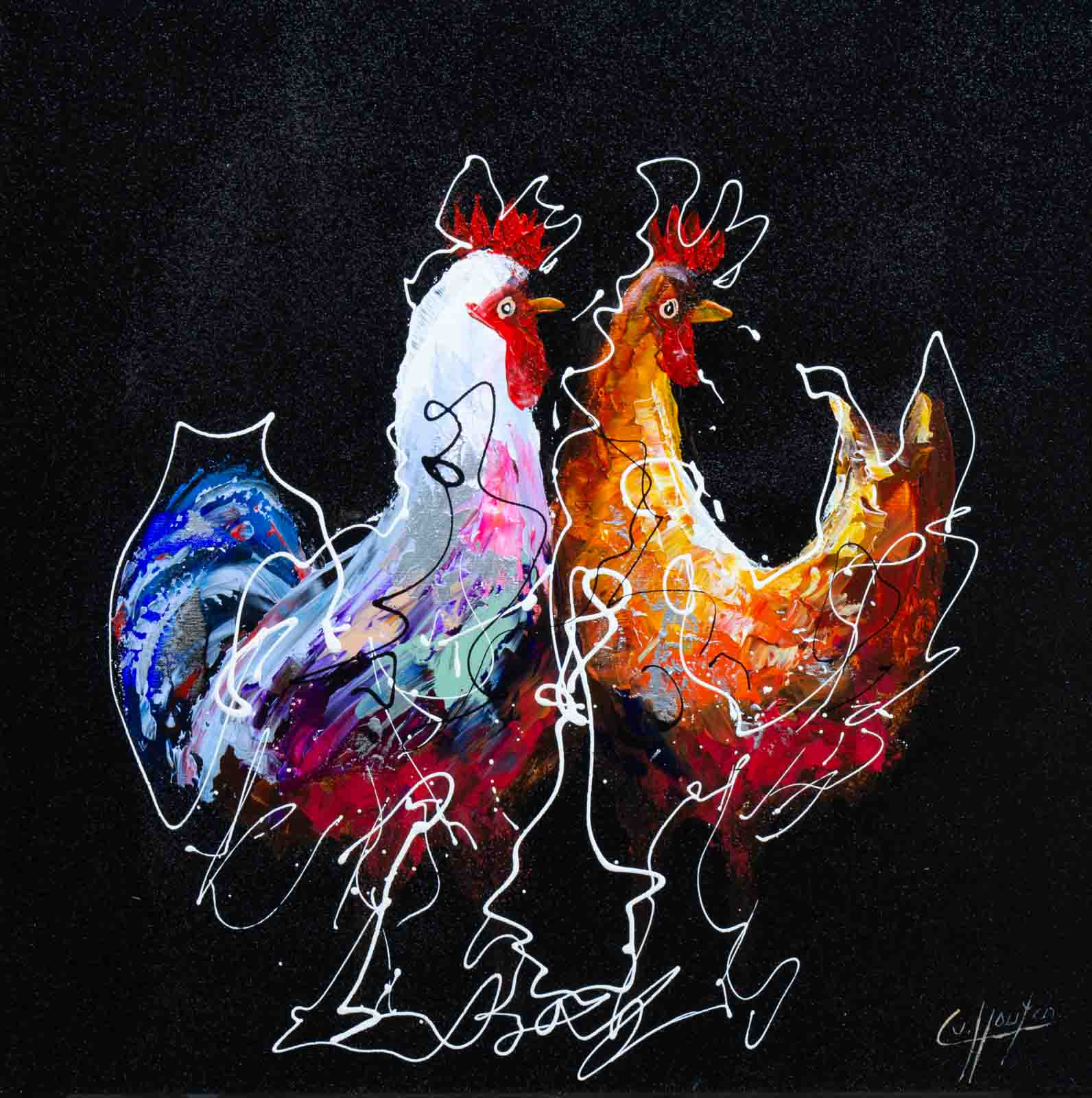 Rooster Pair