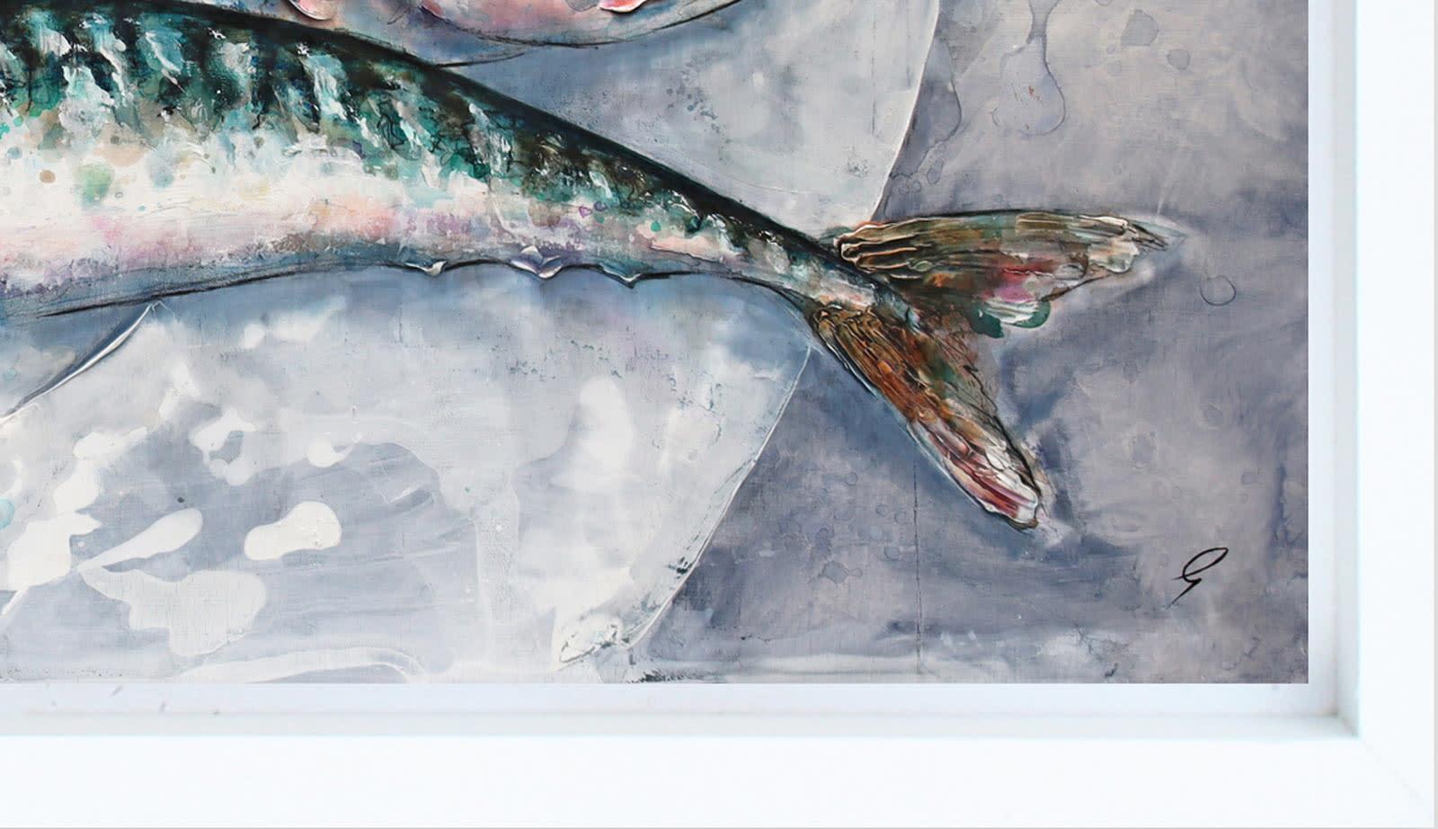 Three Mackerel On A Plate
