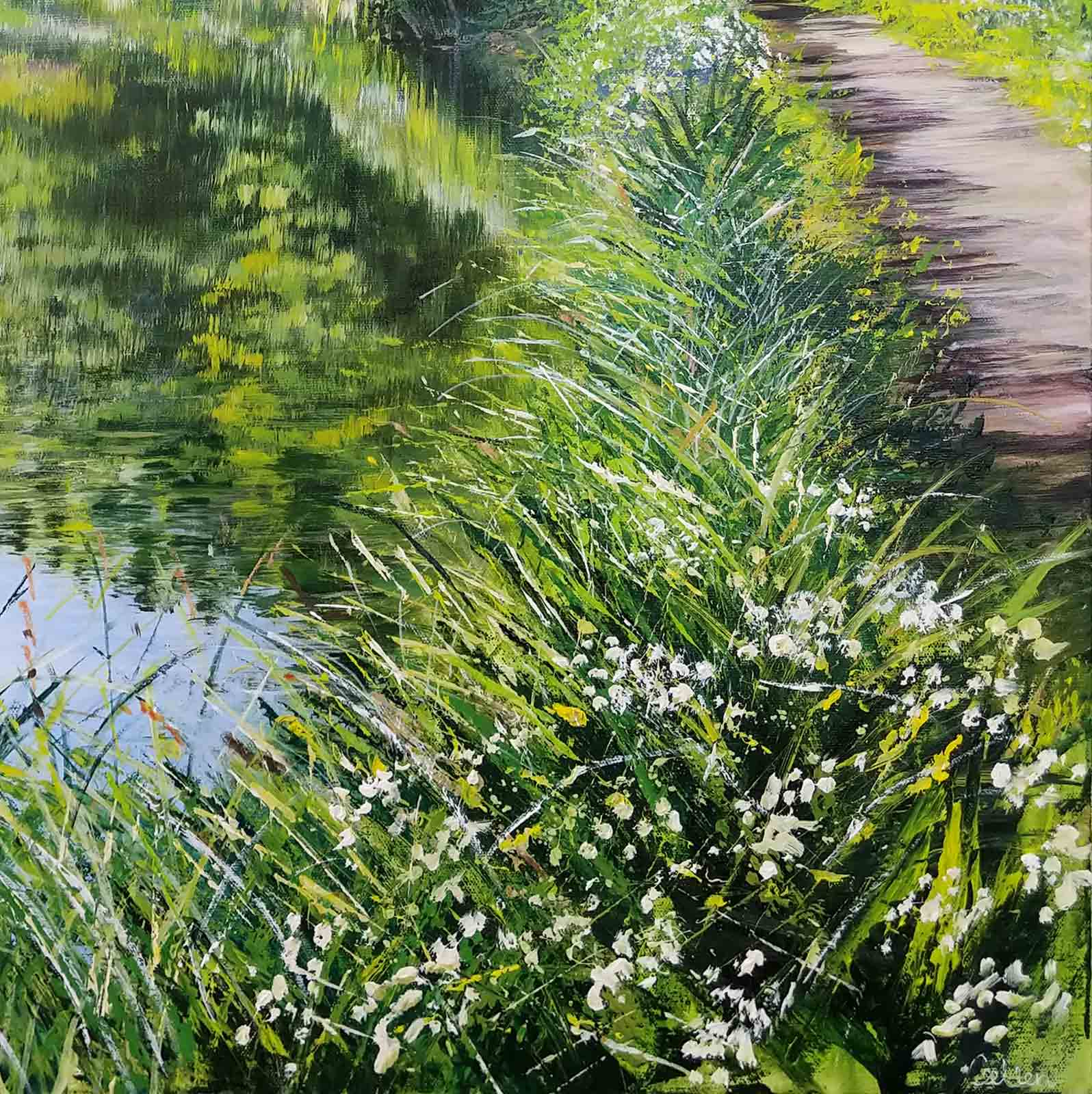 Spring Beside the Canal, Church Crookham
