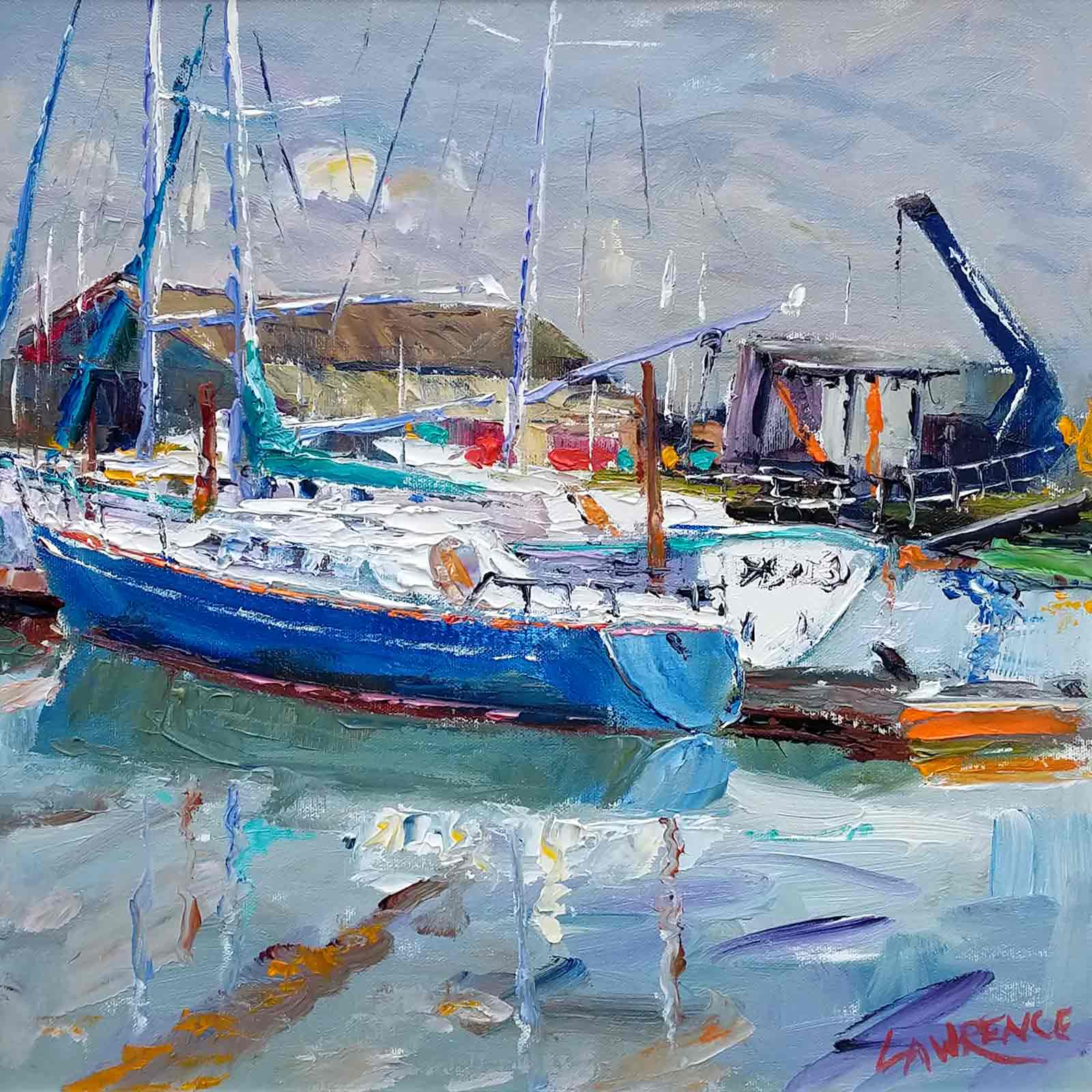 Moored Boats, Suffolk