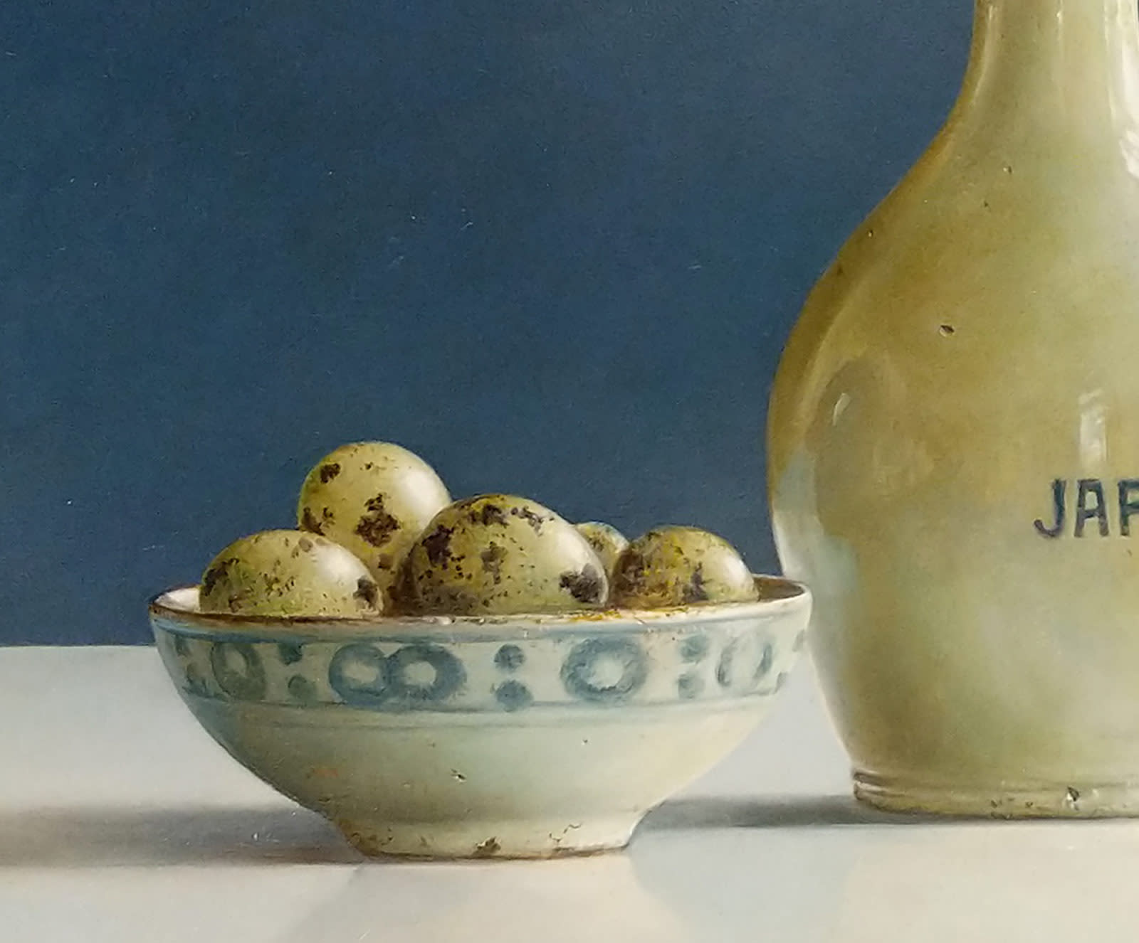 Soya Jug and Quails Eggs