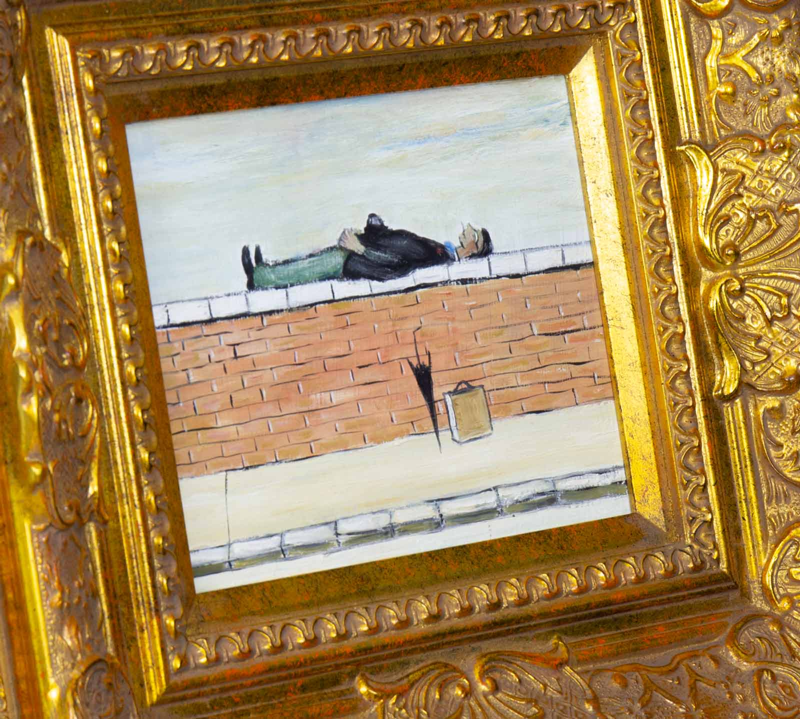 Man on Wall after L.S.Lowry