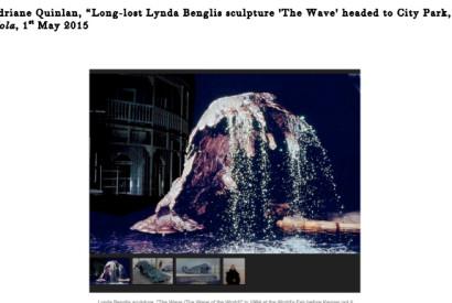 Lynda Benglis scuplture,