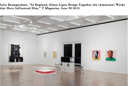 An installation view of
