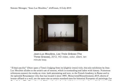 Jean-Luc Moulène, Les Trois Grâces (The Three Graces), 2012, HD video, color, silent, ten minute loop.
